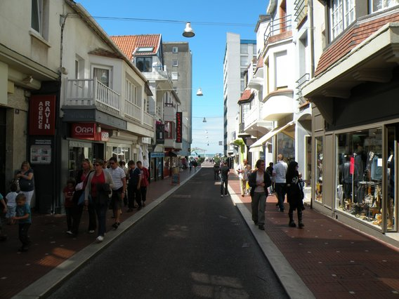 Rue Saint Jean En Direction Des Plages Le Touquet En Photo