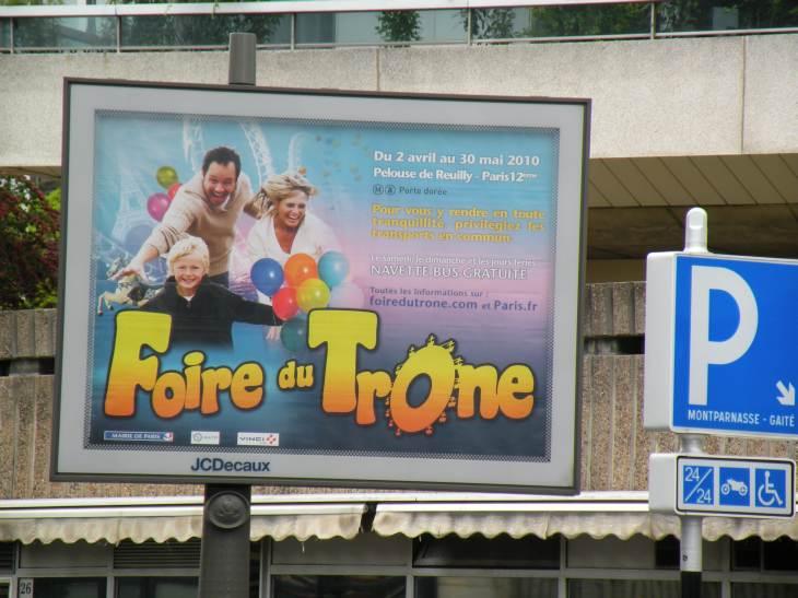 Photo de paris en 2010 foire du tr ne for Foire du trone en transport